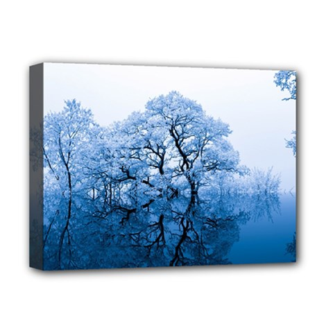 Nature Inspiration Trees Blue Deluxe Canvas 16  X 12