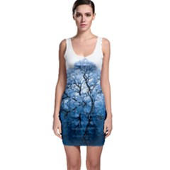 Nature Inspiration Trees Blue Bodycon Dress