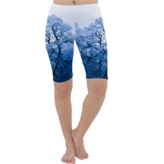 Nature Inspiration Trees Blue Cropped Leggings