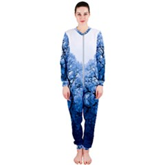 Nature Inspiration Trees Blue Onepiece Jumpsuit (ladies)