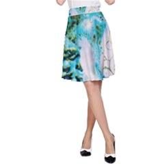 Abstract Art Modern Detail Macro A Line Skirt