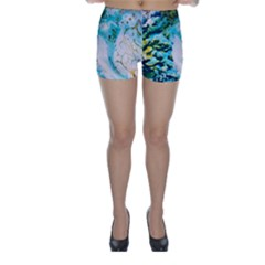 Abstract Art Modern Detail Macro Skinny Shorts