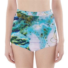 Abstract Art Modern Detail Macro High Waisted Bikini Bottoms