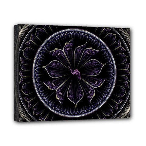 Fractal Abstract Purple Majesty Canvas 10  X 8
