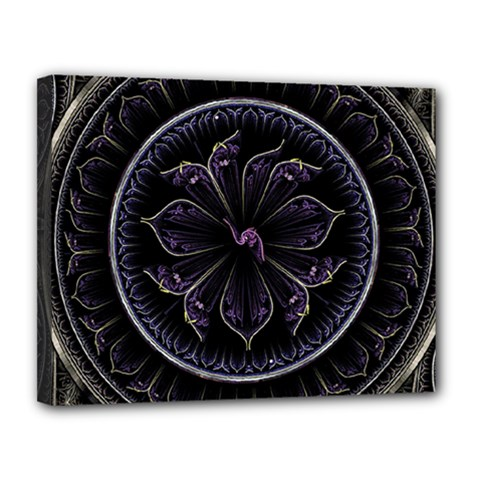 Fractal Abstract Purple Majesty Canvas 14  X 11