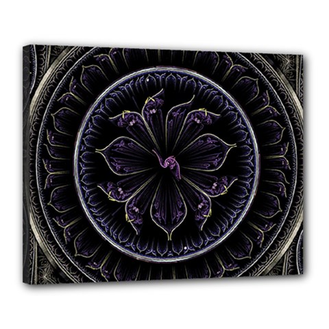 Fractal Abstract Purple Majesty Canvas 20  X 16