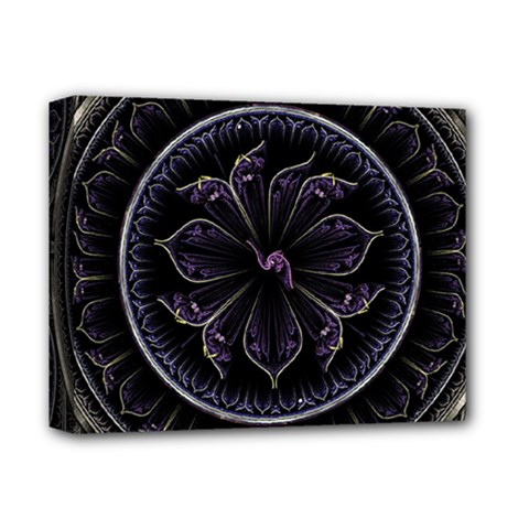 Fractal Abstract Purple Majesty Deluxe Canvas 14  X 11