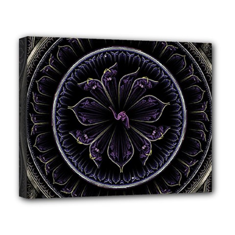 Fractal Abstract Purple Majesty Deluxe Canvas 20  X 16   by Nexatart