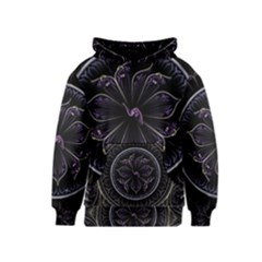 Fractal Abstract Purple Majesty Kids  Pullover Hoodie