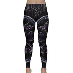 Fractal Abstract Purple Majesty Classic Yoga Leggings
