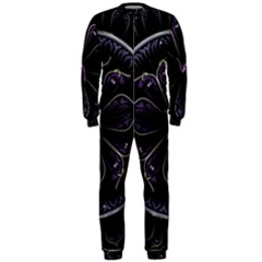 Fractal Abstract Purple Majesty Onepiece Jumpsuit (men)