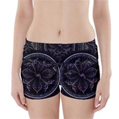Fractal Abstract Purple Majesty Boyleg Bikini Wrap Bottoms