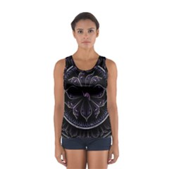 Fractal Abstract Purple Majesty Sport Tank Top