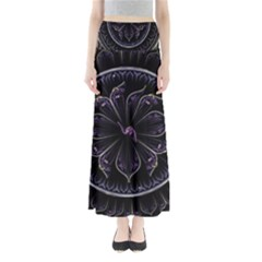 Fractal Abstract Purple Majesty Full Length Maxi Skirt