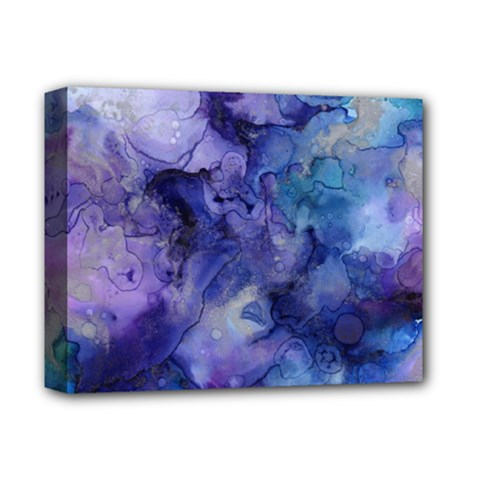 Ink Background Swirl Blue Purple Deluxe Canvas 14  X 11