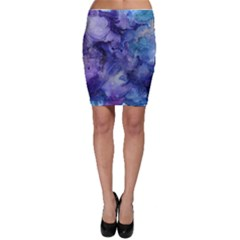 Ink Background Swirl Blue Purple Bodycon Skirt