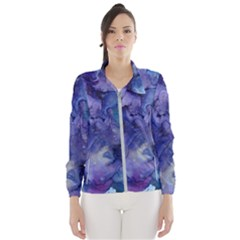 Ink Background Swirl Blue Purple Wind Breaker (women)