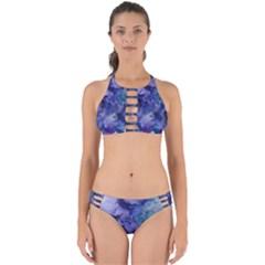 Ink Background Swirl Blue Purple Perfectly Cut Out Bikini Set