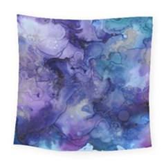 Ink Background Swirl Blue Purple Square Tapestry (large)
