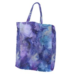 Ink Background Swirl Blue Purple Giant Grocery Zipper Tote by Nexatart