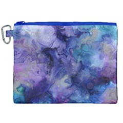 Ink Background Swirl Blue Purple Canvas Cosmetic Bag (xxl)