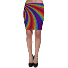 Abstract Pattern Lines Wave Bodycon Skirt