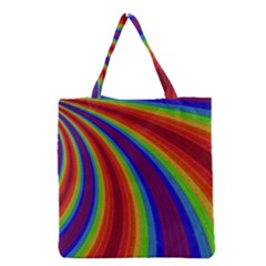 Abstract Pattern Lines Wave Grocery Tote Bag