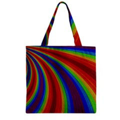 Abstract Pattern Lines Wave Zipper Grocery Tote Bag