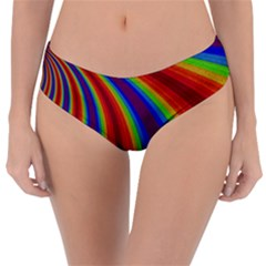 Abstract Pattern Lines Wave Reversible Classic Bikini Bottoms