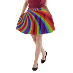 Abstract Pattern Lines Wave A Line Pocket Skirt