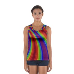 Abstract Pattern Lines Wave Sport Tank Top