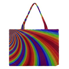 Abstract Pattern Lines Wave Medium Tote Bag