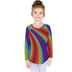 Abstract Pattern Lines Wave Kids  Long Sleeve Tee