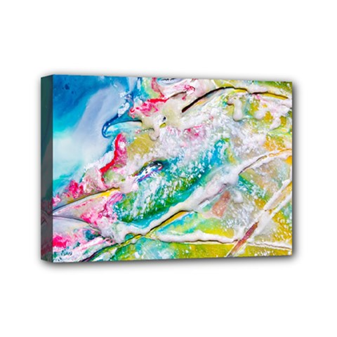 Art Abstract Abstract Art Mini Canvas 7  X 5