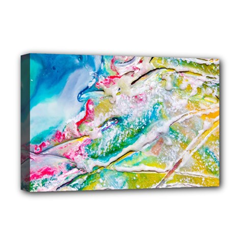 Art Abstract Abstract Art Deluxe Canvas 18  X 12