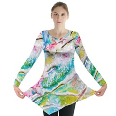 Art Abstract Abstract Art Long Sleeve Tunic