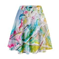 Art Abstract Abstract Art High Waist Skirt