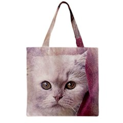 Cat Pet Cute Art Abstract Vintage Grocery Tote Bag