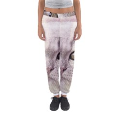Cat Pet Cute Art Abstract Vintage Women s Jogger Sweatpants