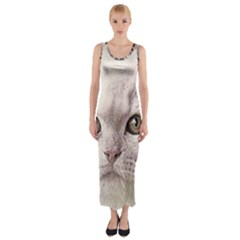 Cat Pet Cute Art Abstract Vintage Fitted Maxi Dress