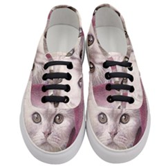Cat Pet Cute Art Abstract Vintage Women s Classic Low Top Sneakers