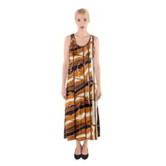 Abstract Architecture Background Sleeveless Maxi Dress
