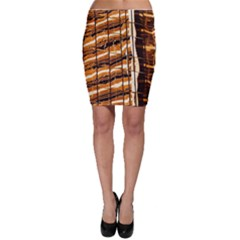 Abstract Architecture Background Bodycon Skirt