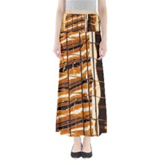 Abstract Architecture Background Full Length Maxi Skirt