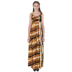 Abstract Architecture Background Empire Waist Maxi Dress