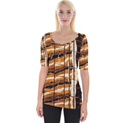 Abstract Architecture Background Wide Neckline Tee