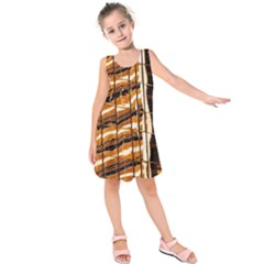 Abstract Architecture Background Kids  Sleeveless Dress