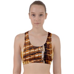 Abstract Architecture Background Back Weave Sports Bra