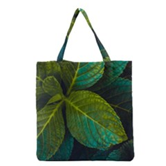 Green Plant Leaf Foliage Nature Grocery Tote Bag by Nexatart