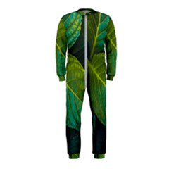 Green Plant Leaf Foliage Nature Onepiece Jumpsuit (kids)